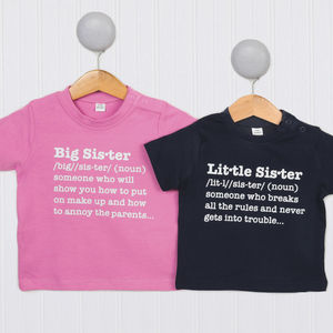 Sisters Definition T Shirt Set