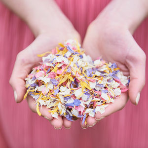 Biodegradable Petal Wedding Confetti - confetti, petals & sparklers