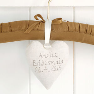 Personalised Bridesmaid Heart - flower girl gifts