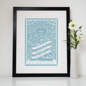Personalised Ribbon Engagement Print - shop by occasion