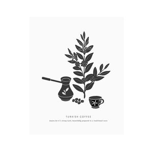 8x10 Letterpress Art Print Turkish Coffee - posters & prints