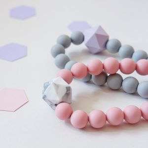 Geometric Teething Necklace
