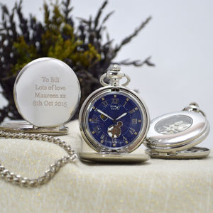 Personalised Pocket Watch With Day And Night Function