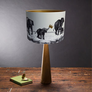 Elephants Lampshade - bedroom