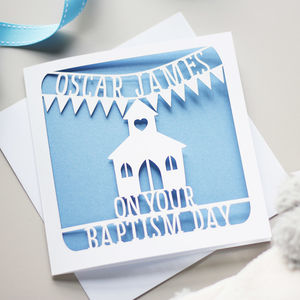 Personalised Baptism Card - christening cards