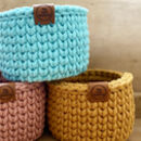 Block Colour Crochet Basket
