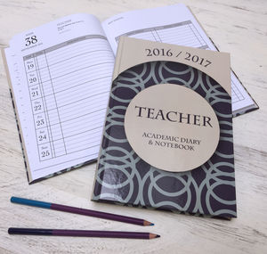 Academic Hardback Combined Diary And Notebook