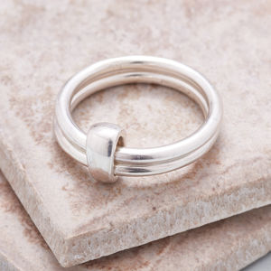Silver And Gold Or Rose Gold Unity Ring - rings