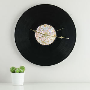 Personalised Map Vinyl Record Clock - office & study