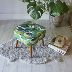 Mid Century Palm Print Stool - sale by category