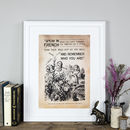 Alice In Wonderland Print 'Remember Who You Are'