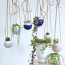 White And Pastel Hanging Ceramic Planter