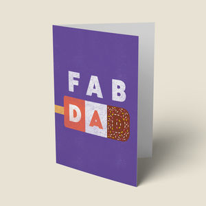 'Fab Dad' Fathers Day Card