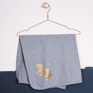 Personalised Baby Bear Blanket