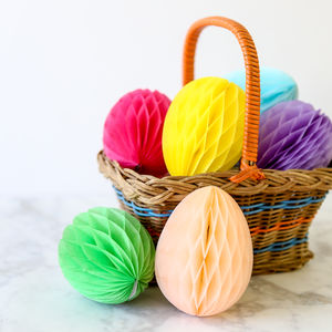 Honeycomb Tissue Paper Easter Eggs - easter home
