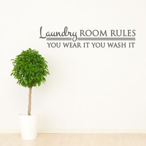 Laundry Room Rules Wall Sticker - wall stickers