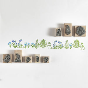 Botanical Rubbers Stamps