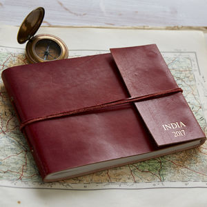 Personalised Distressed Leather Photo Album - albums & guest books