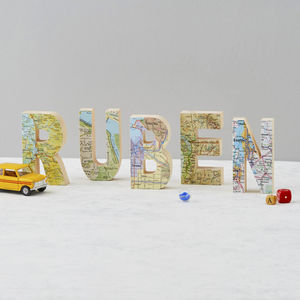 Personalised Map Location Name Wooden Letters - home accessories