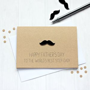 Personalised World's Best Step Dad Father's Day Card