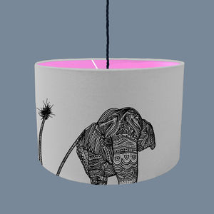 Elephant Lampshade With Fabric Colour Options - lampshades