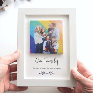 Personalised Family Photo Clay Tile Framed Print