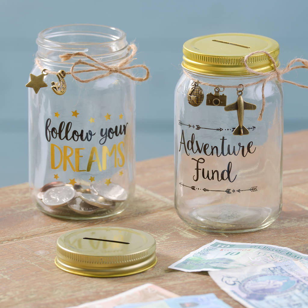 Glass money boxes by letteroom for Money saving box ideas