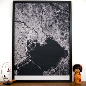 Personalised Contemporary Location Map Print - art & pictures