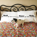 Me  / The Dog You / Personalised Dog Hogger pillowcases