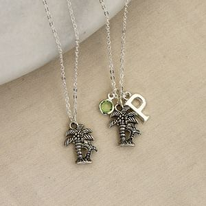 Personalised Palm Tree Charm Necklace - necklaces & pendants