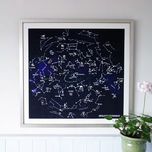 The Constellations Of The Northern Sky Fine Art Print - children's pictures & paintings