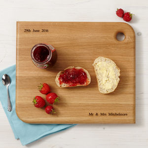Personalised Oak Chopping Board - chopping boards
