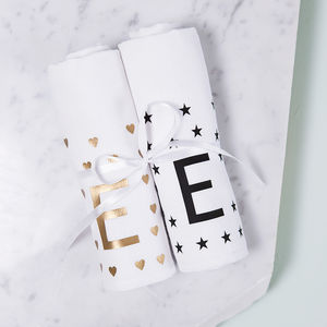Personalised New Baby Muslin Set - new baby gifts