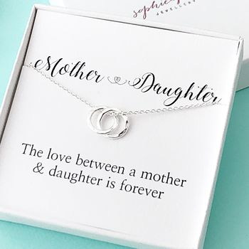 Silver Mother And Daughter Necklace