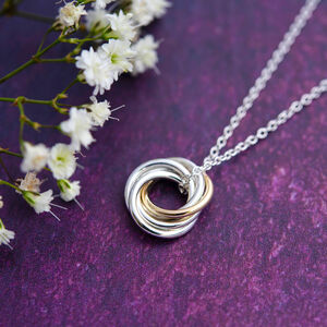 50th Gold And Silver Necklace