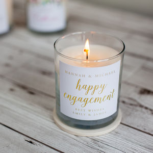 Engagement Candle - engagement gifts