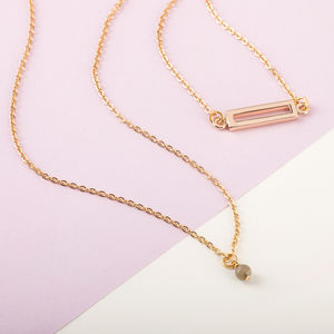 Double Chain Gold Layered Necklaces - necklaces & pendants