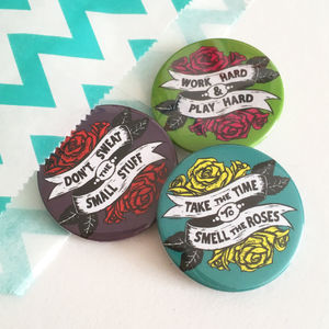 Rose Tattoo Badge Set