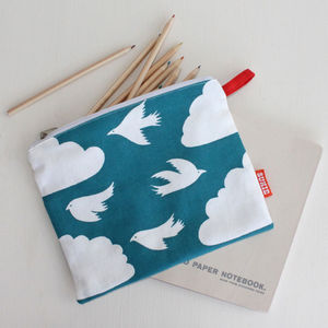 Cloud Design Pouch / Pencil Case - make-up & wash bags