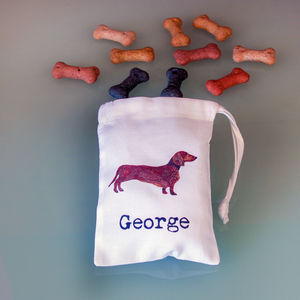 Personalised Mini Bags Of Dog Treats - valentine's gifts for your pet