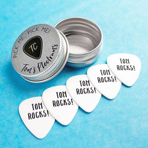 Personalised Guitar Plectrums - gifts for him