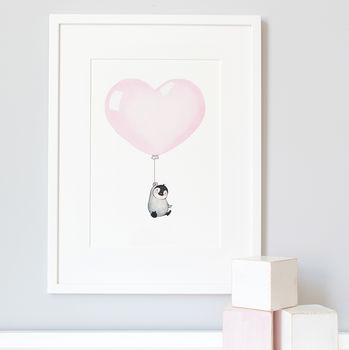 Personalised Love Is In The Air Balloon Print