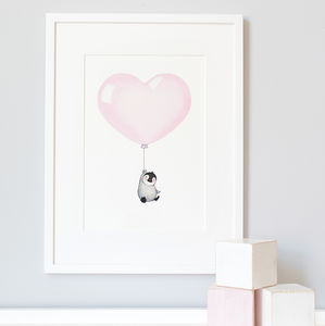 Personalised Love Is In The Air Balloon Nursery Print - children's room