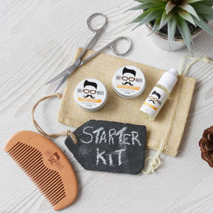 Beard Care Starter Grooming Set - grooming gift sets
