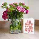 Personalised Wedding Countdown Card