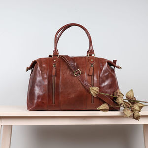 Destiny Leather Holdall Weekend Bag
