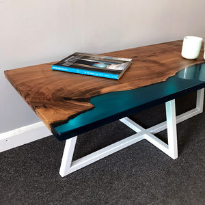 Shoreline Coffee Table In English Walnut Sw02 - coffee tables