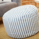 Hand Made Striped Pouffe
