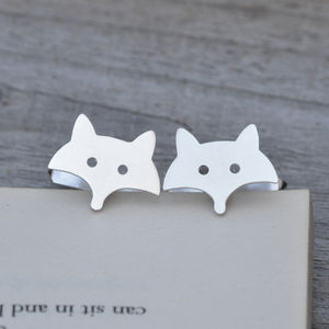 Fox Cufflinks In Sterling Silver - cufflinks