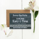 Chalkboard Wedding Save The Date Card